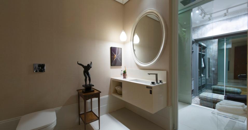 No Loft Urbano, proposta do escritório In House Designers de Interiores, o banheiro tem decoração