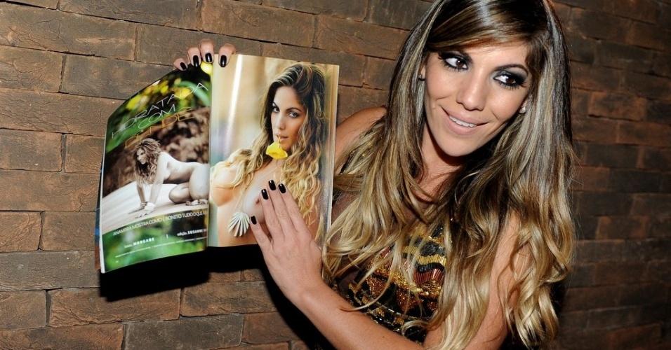 7.jun.2013 - A ex-BBB Anamara na festa de lançamento da revista Sexy com seu ensaio em casa noturna de São Paulo