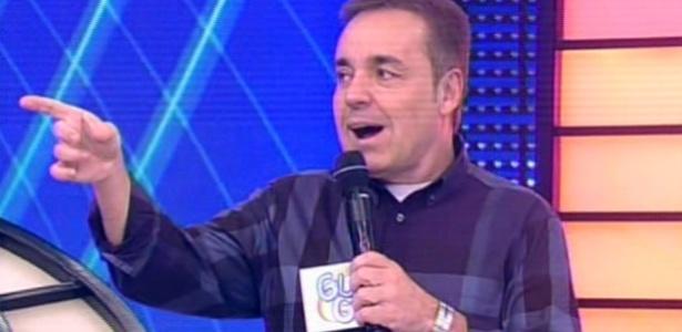 """9.jun.2013 - Gugu Liberato comanda o último """"Programa do Gugu"""" na Record"""