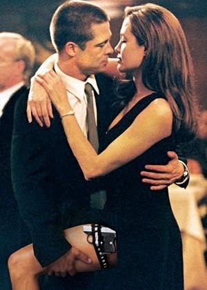 Angelina Jolie e Brad Pitt (Senhor e Senhora Smith)