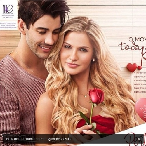 12.jun.2013 - O cantor Gusttavo publicou foto ao lado da noiva, Andressa