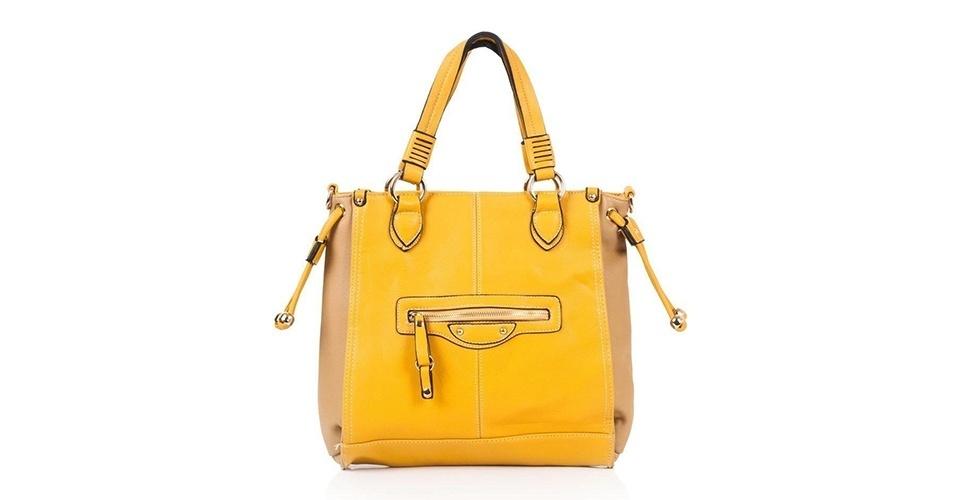 Bolsa amarela; R$ 129,90, no Olook (www.olook.com.br) Preço pesquisado em junho de 2013 e sujeito a alterações