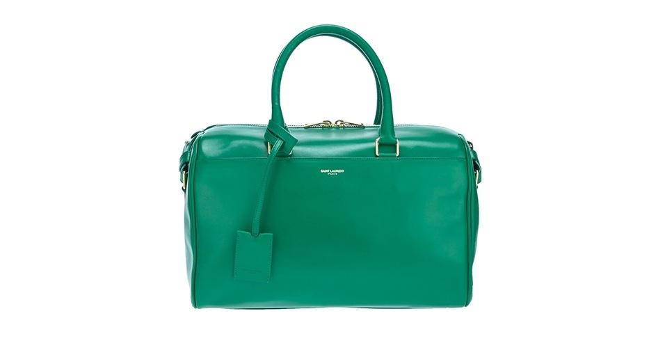 Bolsa verde estruturada; R$ 7.980, da Saint Laurent na Farfetch (www.farfetch.com.br) Preço pesquisado em junho de 2013 e sujeito a alterações