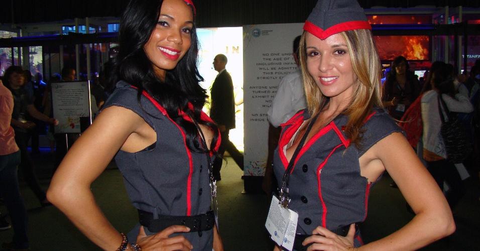 Como de costume, belas moças ajudam a promover as muitas novidades da E3