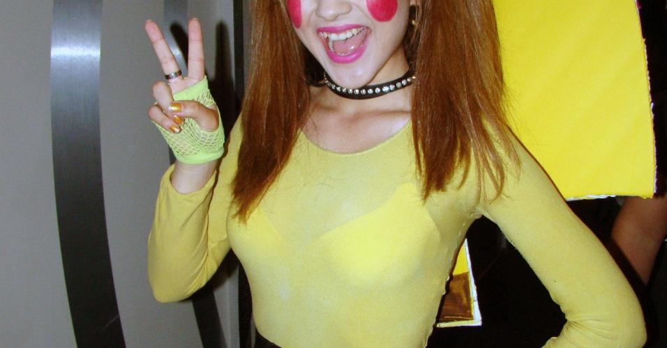 Esta moça-Pikachu cheia de maquiagem foi uma das surpresas mais bizarras que encontramos na E3