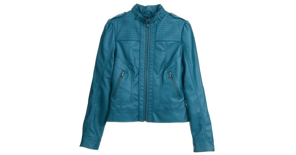 Jaqueta de couro; R$ 169, na C&A (www.cea.com.br) Preço pesquisado em junho de 2013 e sujeito a alterações