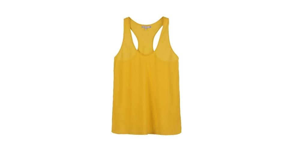Regata amarela; R$ 59,90, da Carina Duek para C&A (www.cea.com.br) Preço pesquisado em junho de 2013 e sujeito a alterações