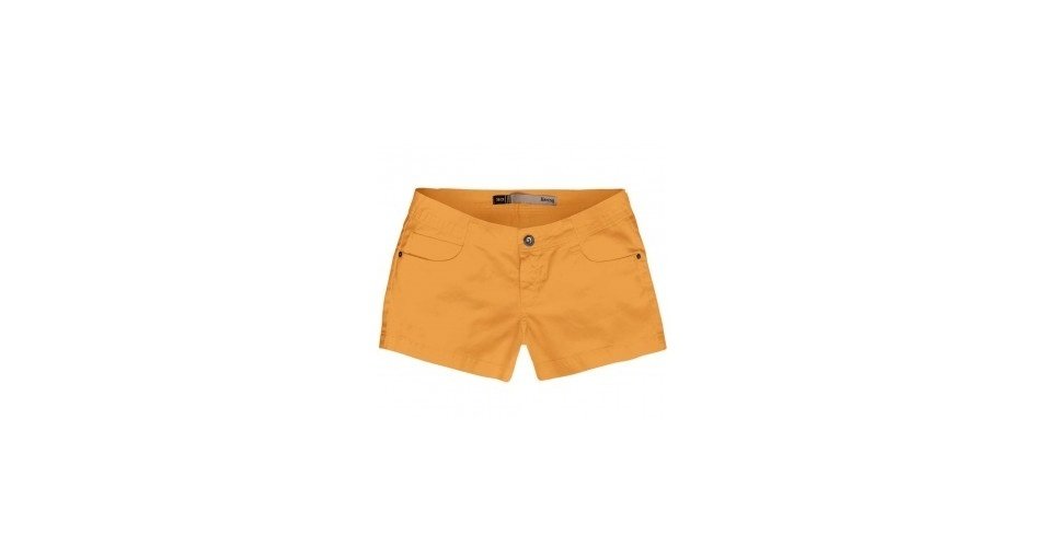 Shorts amarelo; R$ 99,99, na Hering (www.hering.com.br) Preço pesquisado em junho de 2013 e sujeito a alterações