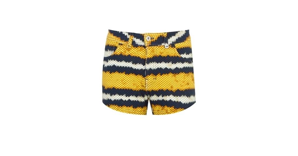 Shorts listrado em estampa animal; R$ 359, da Ellus, na Dafiti (www.dafiti.com.br) Preço pesquisado em junho de 2013 e sujeito a alterações