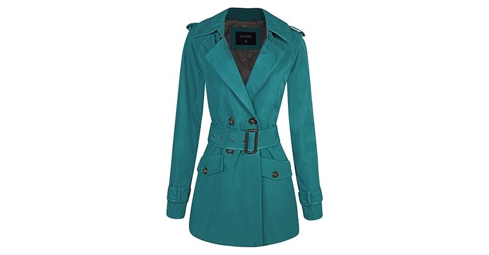 Trench coat; R$ 179, na Renner (www.lojasrenner.com.br) Preço pesquisado em junho de 2013 e sujeito a alterações