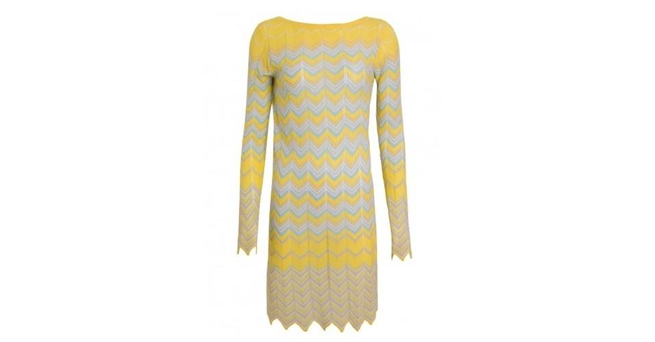 Vestido em tricô com zigue-zague; R$ 231,20, da Zeit na Shop2gether (www.shop2gether.com.br) Preço pesquisado em junho de 2013 e sujeito a alterações