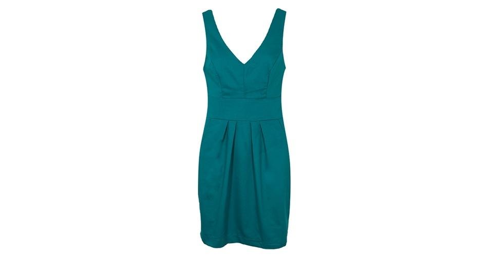 Vestido verde e acinturado; R$ 129,90, da Mercatto na Dafiti (www.dafiti.com.br) Preço pesquisado em junho de 2013 e sujeito a alterações