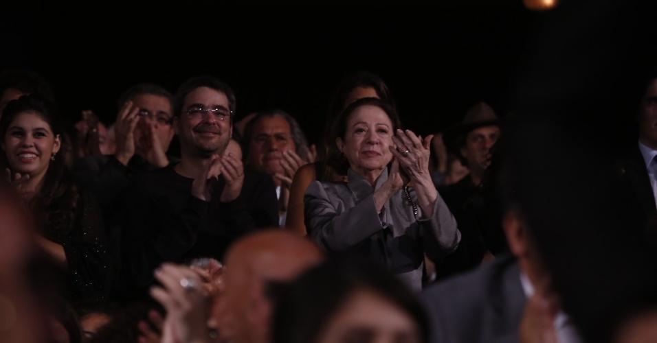 12.jun.2013 - Fernanda Montenegro na plateia do 24º Prêmio da Música Brasileira, no Theatro Municipal do Rio de Janeiro