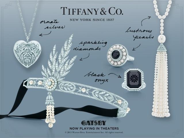 """A conceituada joalheria Tiffany & CO. participou do figurino de """"O Grande Gatsby"""" assinando joias para o filme. Quem quiser comprar, pode encomendar as peças em qualquer loja da marca"""