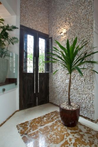 Pin mosaico parede pedra polida piso para decorar hall on for Mosaico para piso
