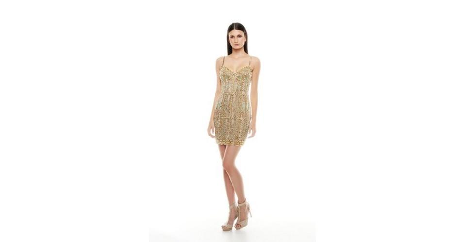 Vestido curto bordado; R$ 10.798, na Vivaz (www.vivazbrasil.com). Preço pesquisado em junho de 2013 e sujeito a alterações