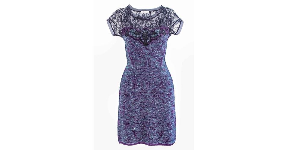 Vestido de renda com bordado; R$ 699, na Cecília Prado (Tel.: 11 3152-6055). Preço pesquisado em junho de 2013 e sujeito a alterações