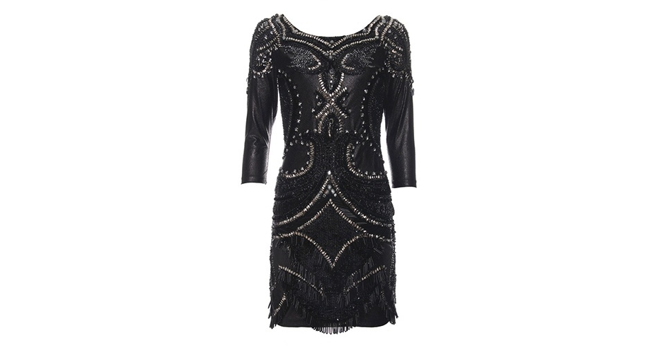 Vestido preto bordado; R$ 3.476, na Fethie (www.fethie.com.br). Preço pesquisado em junho de 2013 e sujeito a alterações