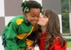 Cirilo vence corrida contra Jorge e ganha beijo de Maria Joaquina - Lourival Ribeiro/SBT