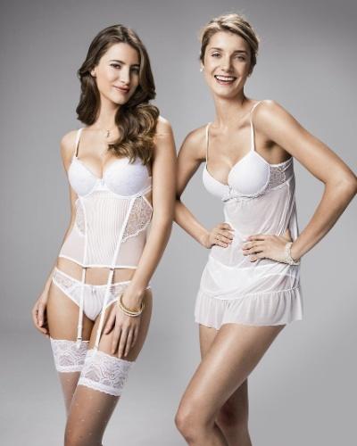 Corset, calcinha, meia-calça com poás e baby doll; da Pernambucanas (www.pernambucanas.com.br), por R$ 39,90 (corset), R$ 11,90 (calcinha), R$ 29,90 (meia-calça com poás) e R$ 39,90 (baby doll). Disponibilidade e preço pesquisados em junho de 2013 e sujeito a alterações