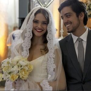 Nos últimos capítulos, Fatinha e Bruno têm casamento oficial em