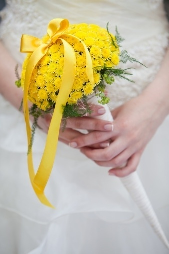 Bouquê de noiva amarelo