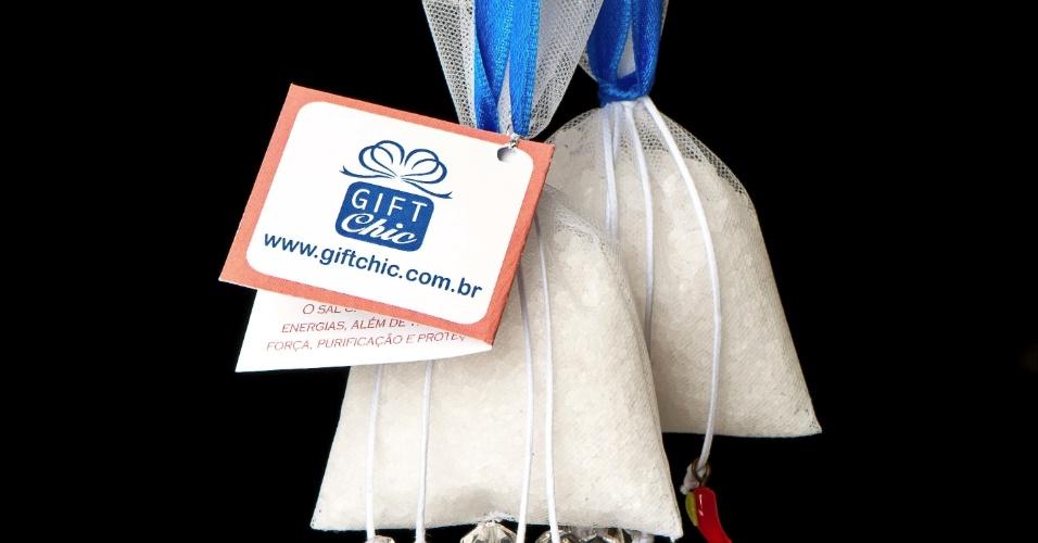 Patuá de proteção; da Gift Chic (www.giftchic.com.br), a partir de R$ 8,50. Disponibilidade e preço pesquisados em junho de 2013 e sujeito a alterações