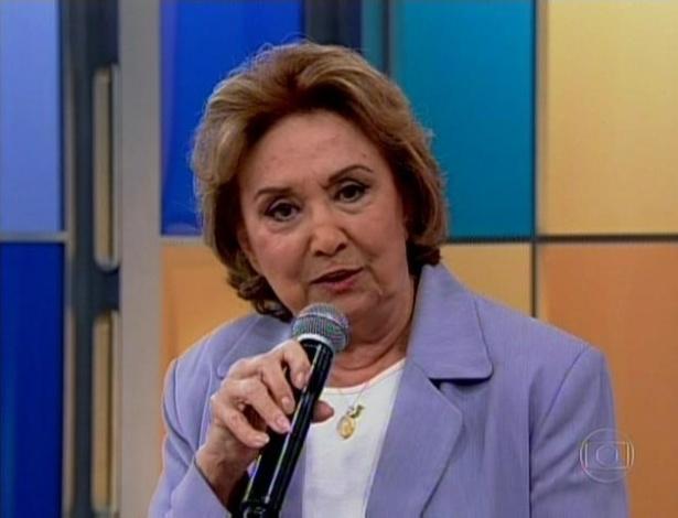 A atriz Eva Wilma deu um depoimento para Fátima Bernardes