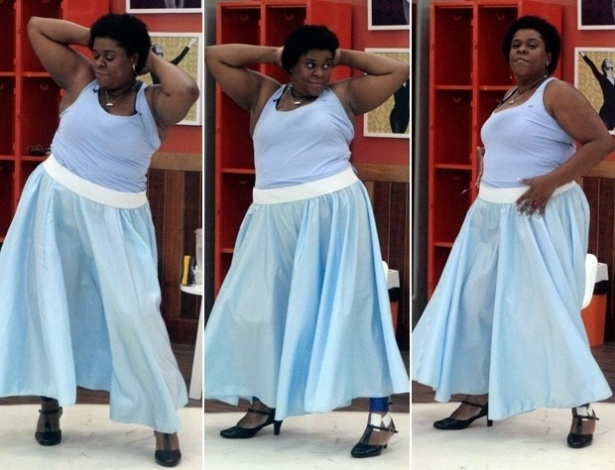 """25.jun.2013 - Cacau Protásio mostra lado sensual em ensaio da """"Dança dos Famosos"""""""