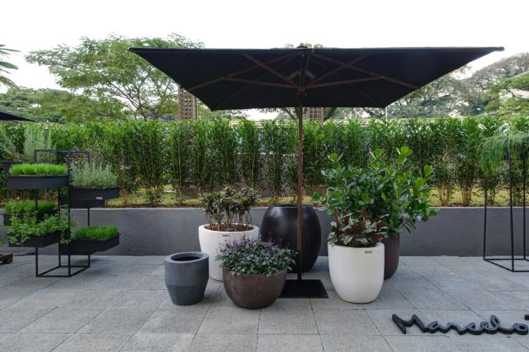 """gustavo horta jardim : gustavo horta jardim:Na varanda do Lounge Gourmet, de Gustavo Calazans, o verde """"emoldura"""
