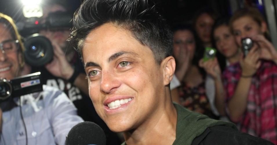 28.jun.2013 - Thammy Gretchen na inauguração de sua sala no karaokê Coconut, em São Paulo