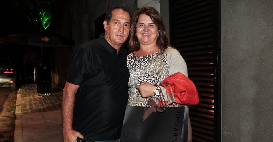 O técnico Muricy Ramalho e sua esposa, Roseli