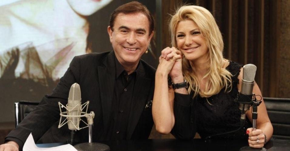 Amaury Jr. entrevista Antônia Fontenelle em seu programa