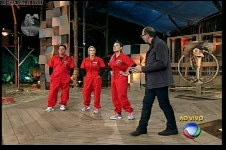 30.jun.2013 - Denise Rocha e Márcio Duarte estão na roça e disputam preferência do público