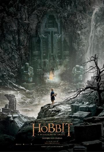 """Cartaz oficial em português de """"O Hobbit: A Desolação de Smaug"""", de Peter Jackson - pôster nacional"""