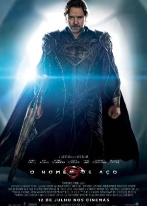 """Personagem Jor El aparece em cartaz do filme """"O Homem de Aço"""""""