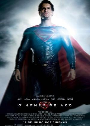 """Personagem Super-Homem aparece em cartaz do filme """"O Homem de Aço"""""""