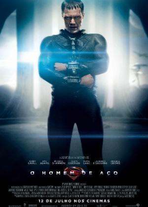 """Vilão Zod aparece em cartaz do filme """"O Homem de Aço"""""""