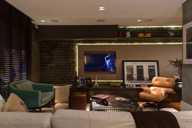 Sala De Estar Móveis Rústicos ~ lofts, Gustavo Paschoalim desenhou a Sala de Vinhos A área de estar
