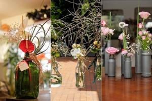 Arranjos com garrafas e potes de vidro custam pouco e deixam a casa linda - Fernando Donasci/ UOL