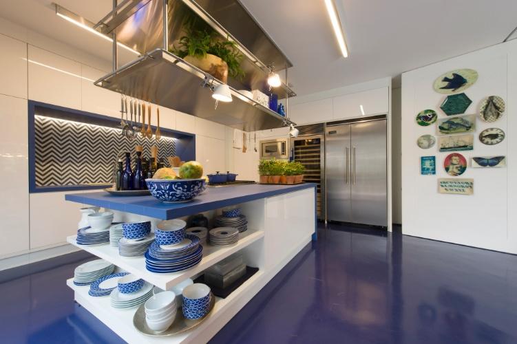 decoracao cozinha de praia:Cozinha Decoracao Azul
