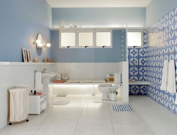 Veja ambientes decorados a partir de uma cor predominante  BOL Fotos -> Banheiro Decorado Azul