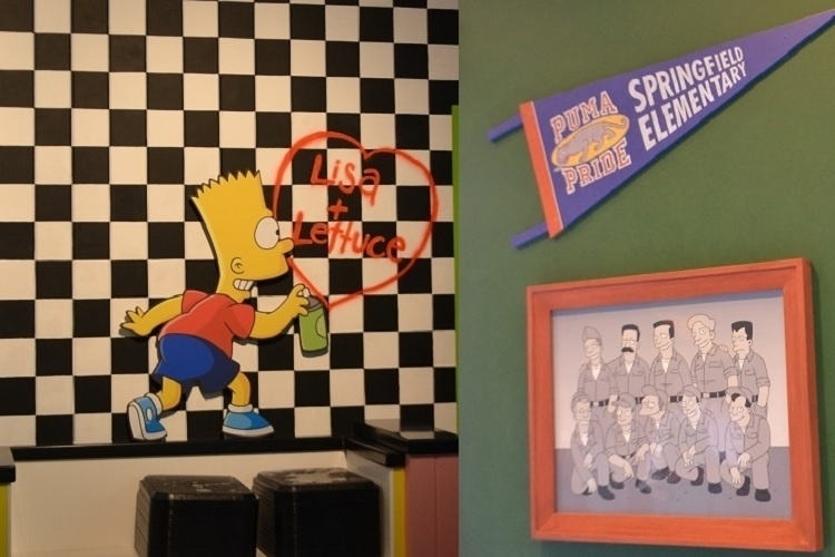 """Cenas divertidas e referências à série de TV """"Os Simpsons"""" garantem o charme da nova área de alimentação do Universal Studios Florida. O capricho com os detalhes proporciona a reprodução fiel dos ambientes do desenho"""