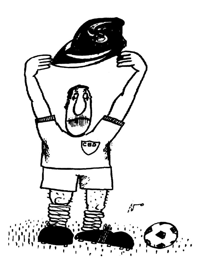 """Nani publica no """"Pasquim"""" charge mostrando que levamos ferro ao invés da taça na Copa de 1974"""