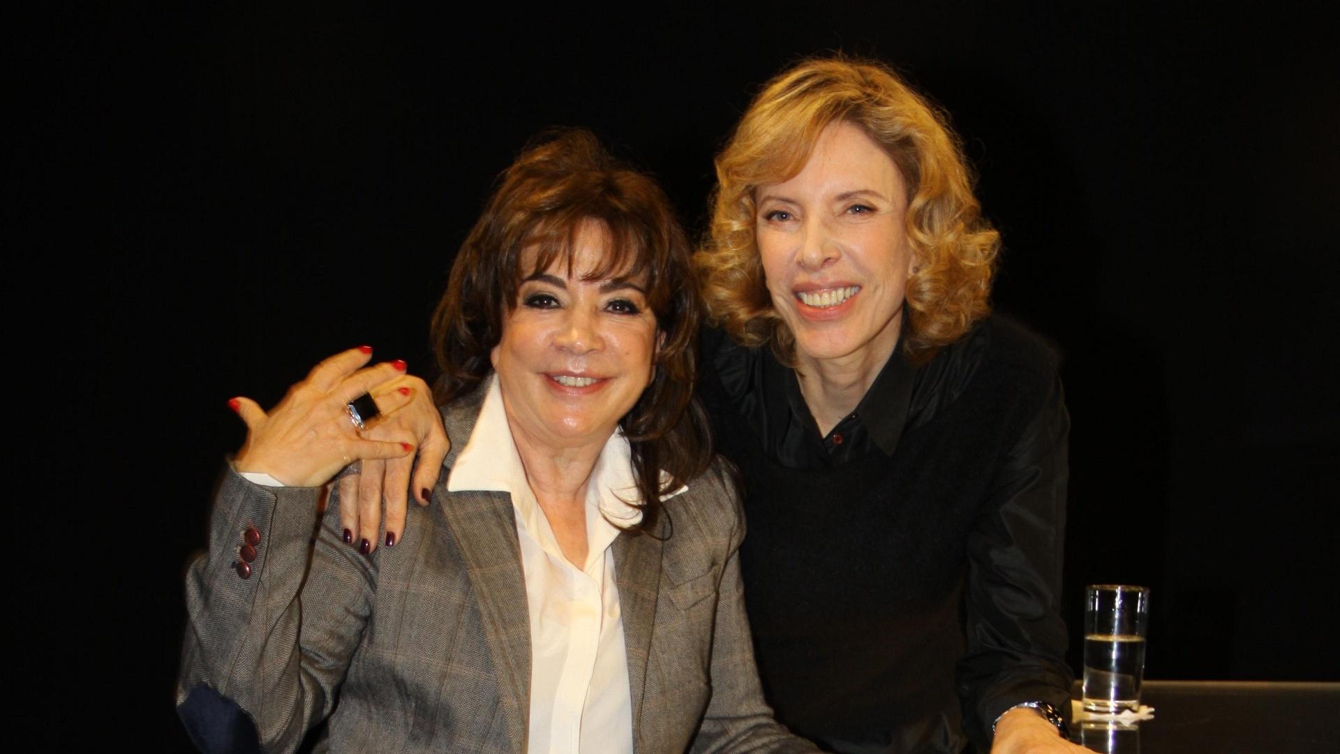 Iris Abravanel durante entrevista para Marília Gabriela no