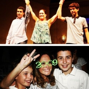 2012 - Susana Vieira e os netos, Bruno e Rafael