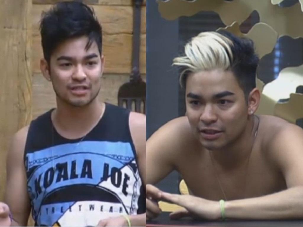 15.jul.2013 - Yudi também seguiu o exemplo de Mateus e descoloriu parte do cabelo.