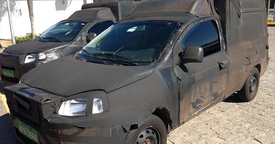 Algumas unidades do futuro Fiat Fiorino, feito sobre a plataforma do novo Uno, foram flagradas pelo leitor André Vitor na Rodovia Fernão Dias, estrada que liga São Paulo a Minas Gerais (a sede da Fiat fica em Betim, cidade vizinha à Belo Horizonte)