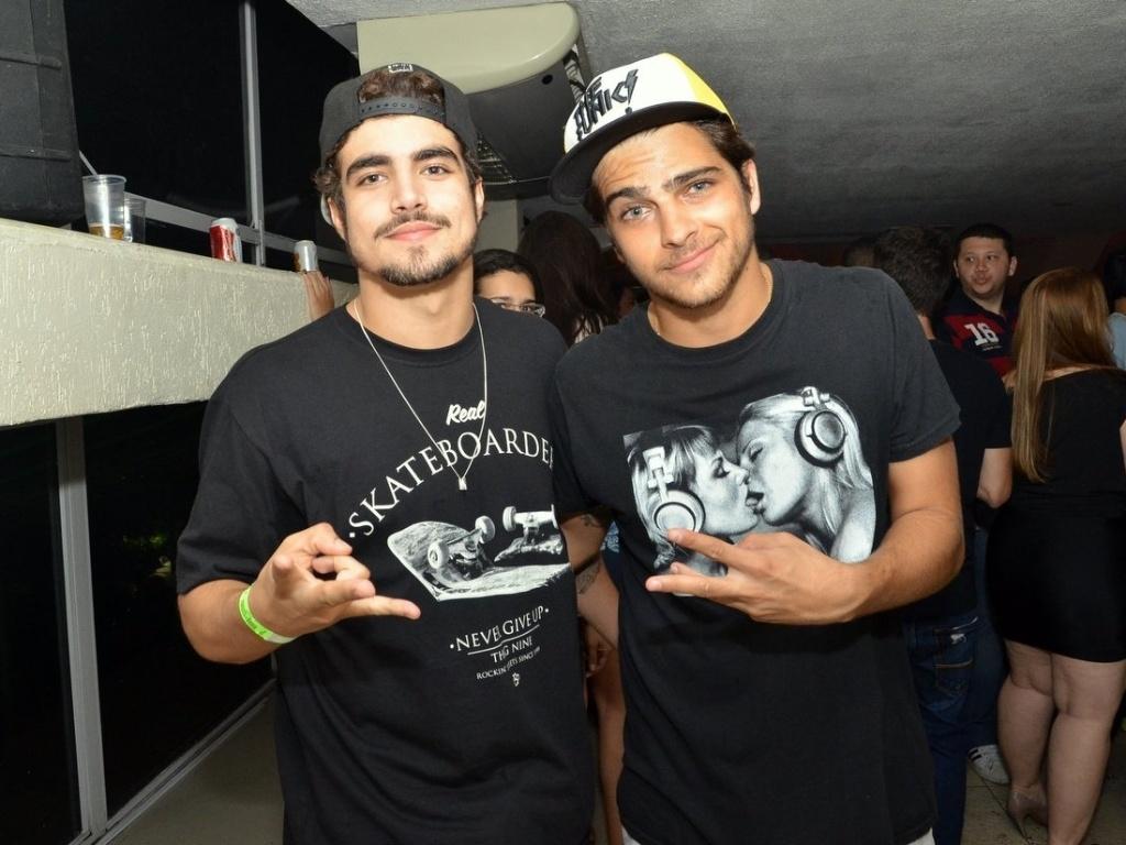 15.jul.2013 - Caio Castro e Bernardo Mesquita na 2ª edição da