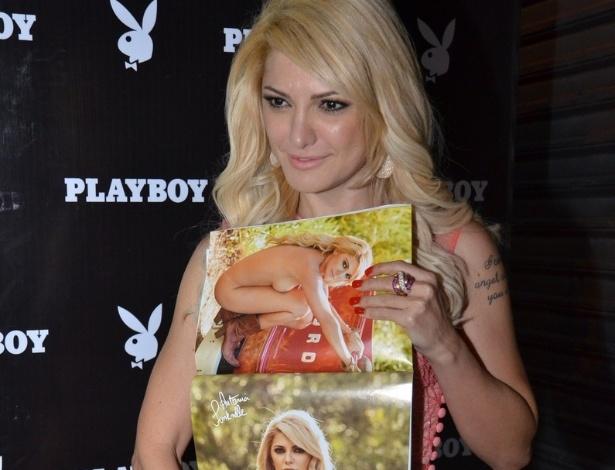 16.jul.2013 - A atriz Antônia Fontenelle na festa de lançamento da revista